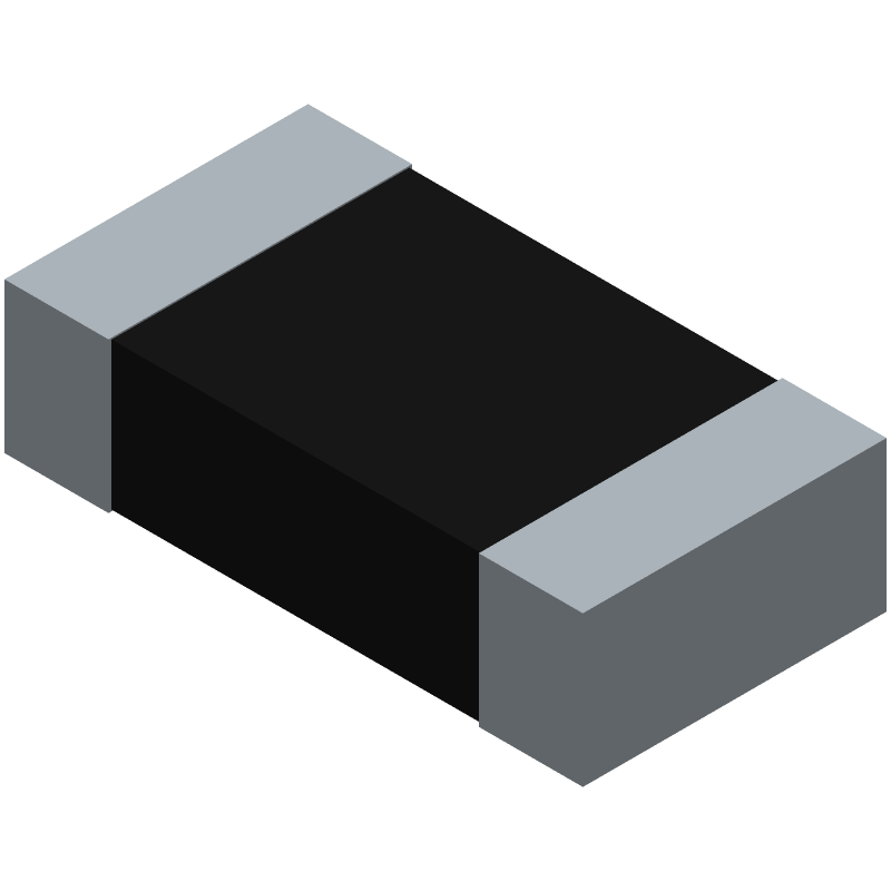 Bourns CSS2H-3920R-L200FE (Resistor Chip) 3D model isometric projection.