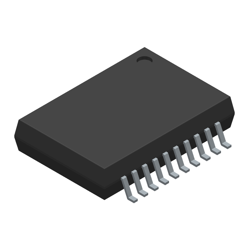 STMicroelectronics L298P (Small Outline Packages) 3D model isometric projection.