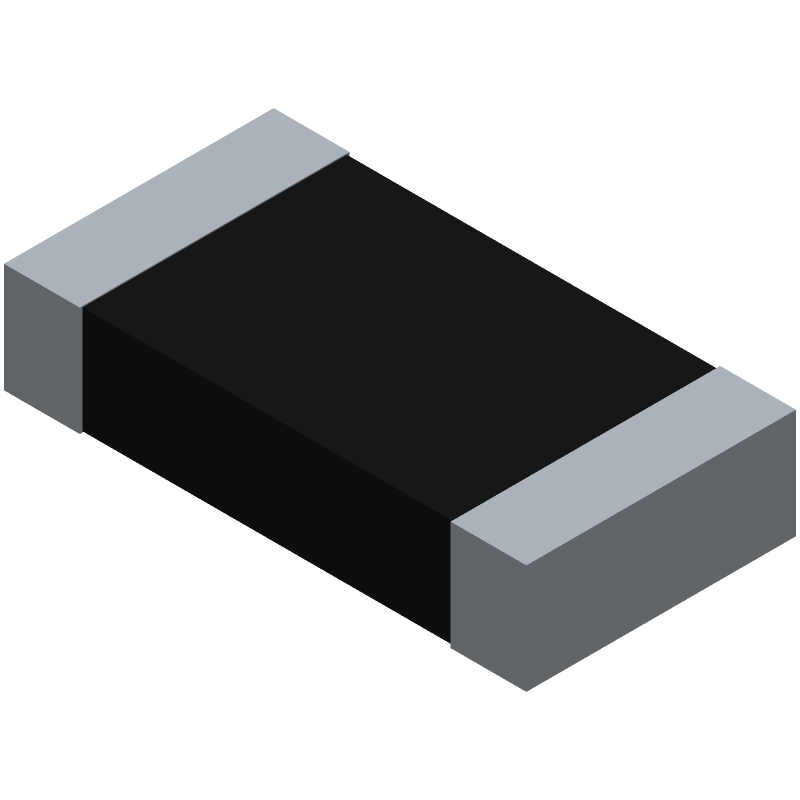 Vishay CRCW12061K00JNEAHP (Resistor Chip) 3D model isometric projection.