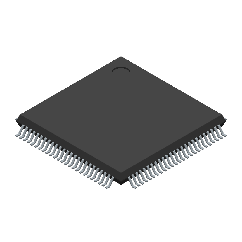STMicroelectronics STM32F765VIT6 (Quad Flat Packages) 3D model isometric projection.