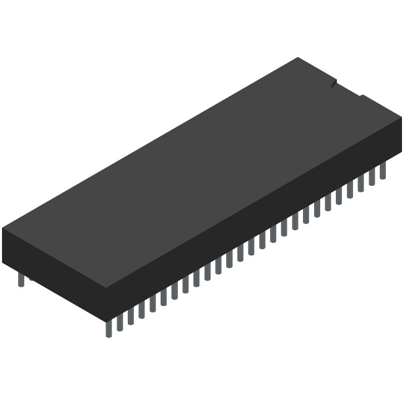 Cypress Semiconductor CY8CKIT-059 (Dual-In-Line Packages) 3D model isometric projection.