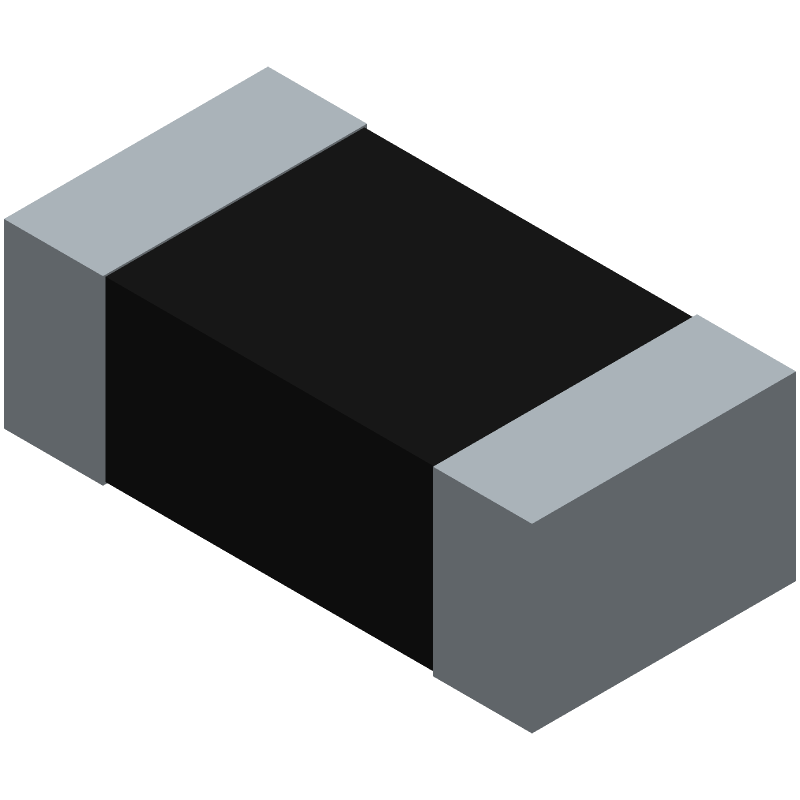 ROHM Semiconductor MCR03EZPD (Resistor Chip) 3D model isometric projection.