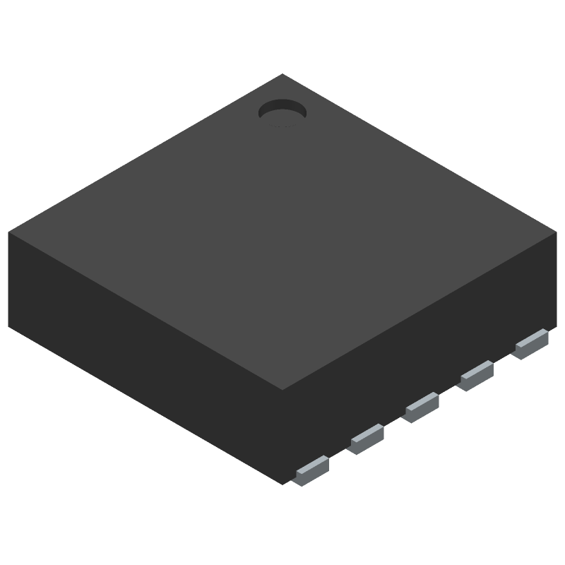 Texas Instruments TPS7A9001DSKT (Small Outline No-lead) 3D model isometric projection.