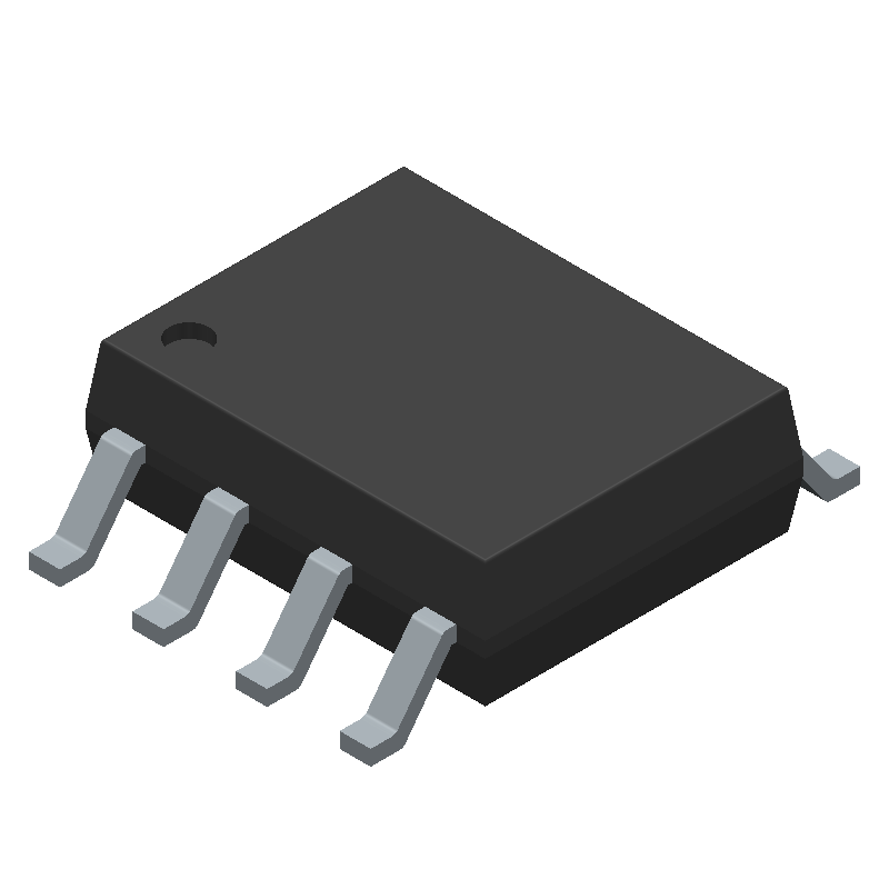 STMicroelectronics LM2904DT (Small Outline Packages) 3D model isometric projection.