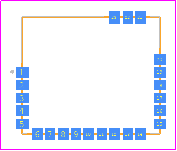 PCB Footprint for SPBTLE-1S